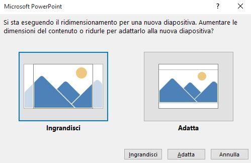 Dimensione diapositiva ppt